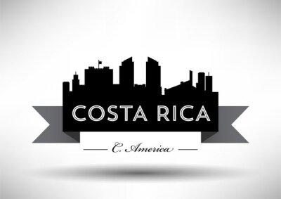 Vector Graphic Design of Costa Rica Skyline
