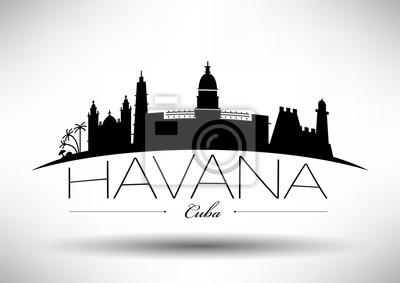 Vector Graphic Design of Havana City Skyline