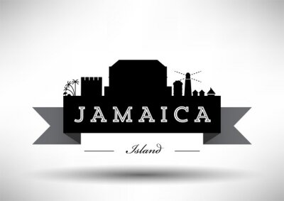 Vector Graphic Design of Jamaica City Skyline