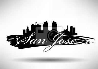 Vector Graphic Design of San Jose City Skyline