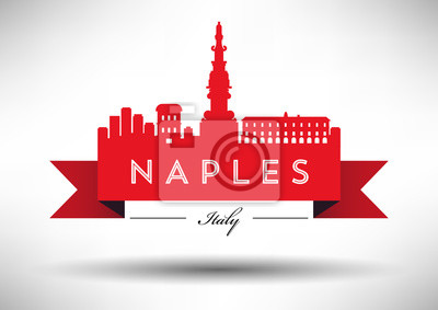 Vector Graphic Design von Neapel Stadt Skyline