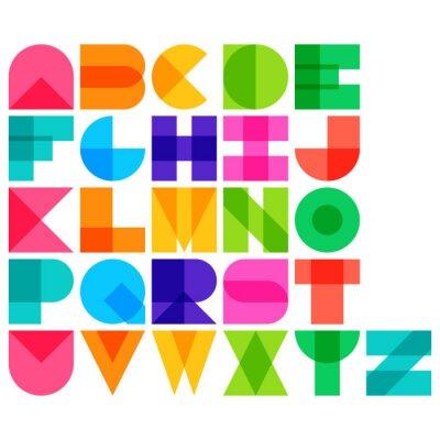 Poster Vector illustration of color font