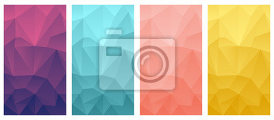Poster vector illustrations of vector polygonal phone wallpaper background set