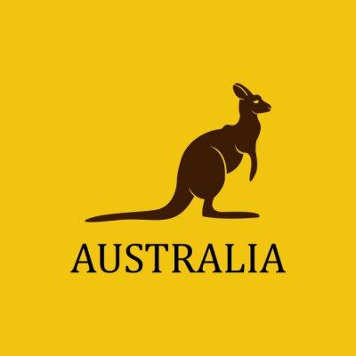 Poster Vector Kangaroo
