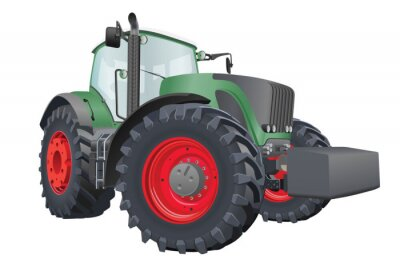 Poster Vector tractor