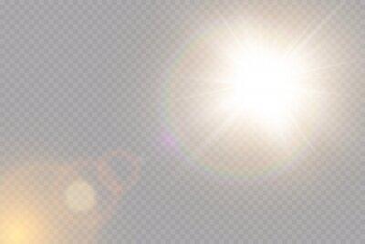 Poster Vector transparent sunlight special lens flare light effect