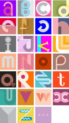Poster Vector Zusammenfassung Schriftart