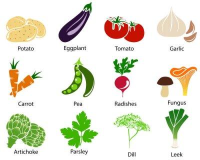 Poster Vegetable Icons Mit Titel
