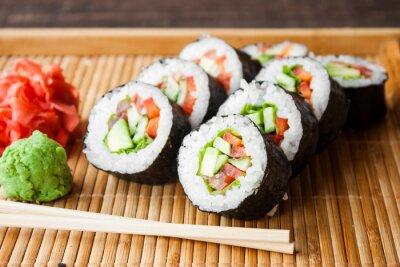 Poster Vegetarische Sushi-Rolle