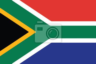 Poster Vektor der südafrikanischen Flagge