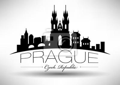 Vektor-Grafik-Design von Prag Stadt Skyline