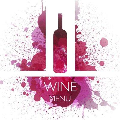 Poster Vektor-Illustration der Wine-Design-Vorlage