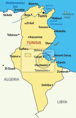 karte tunesien Vektor illustration   karte von tunesien. quelle: .planetolog  karte tunesien