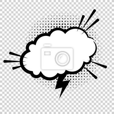 Poster: Vektor komische explosion  comic-sprechblase für verschiedene