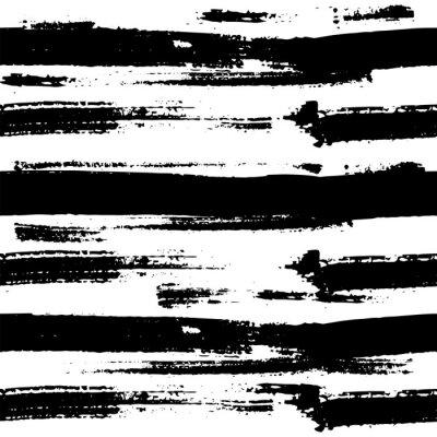 Poster Vektor nahtlose Muster. Gebildet mit Tinte.