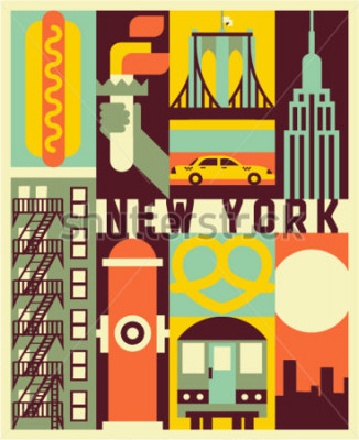 Poster Vektor New York Hintergrund