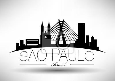 Vektor Sao-Paulo-Stadt-Skyline-Auslegung