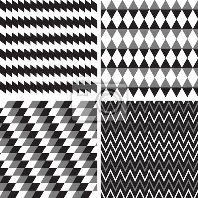 Poster Vektor-Set geometrische nahtlose Hintergrund