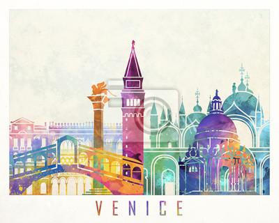 Venedig-Markstein-Aquarellplakat