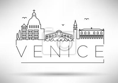 Venice City Line Silhouette typografische Gestaltung