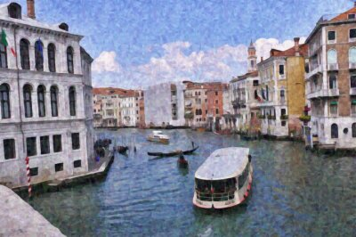 Venice Grand Canal 2 Impressionist Painting