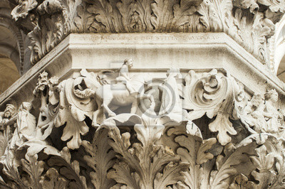 Venice, Italy . Architectural details of St Mark's Cathedral