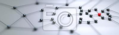 Poster Verbindung Konzept Panorama 3D-Rendering