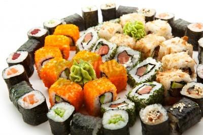 Poster Verschiedene Arten von Maki Sushi