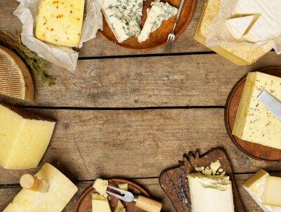 Poster Verschiedene Käsesorten