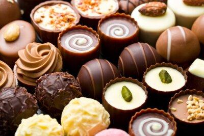 Poster Verschiedene Schokolade Pralinen