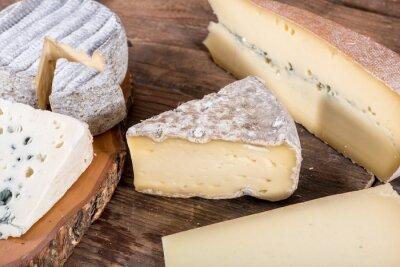 Poster Verschiedene Sorten von Französisch Käse