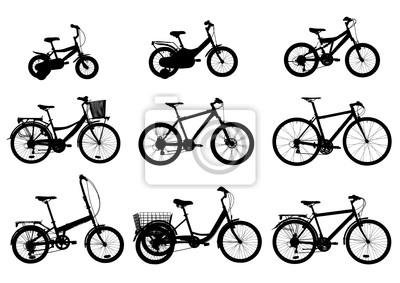 Verschiedene Stil Fahrräder