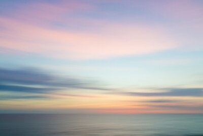 Poster Verschwommene defokussiert Sonnenuntergang Himmel und Meer Natur Hintergrund.