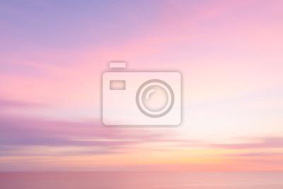 Poster Verschwommenes Sonnenuntergang Himmel und Meer Natur Hintergrund