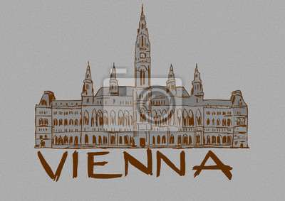 Vienna city hall vintage