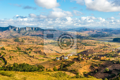 View at the Madagascar countryside