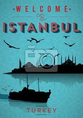 Vinitage Istanbul Poster