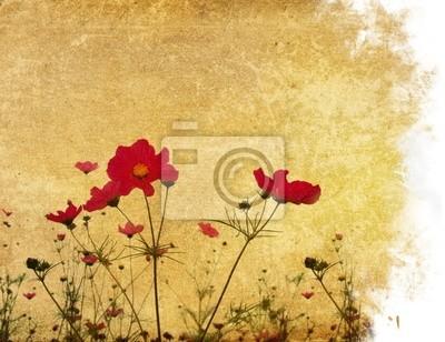Vintage Blume Papier Hintergrund