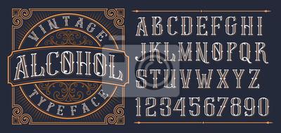 Poster Vintage decorative font.