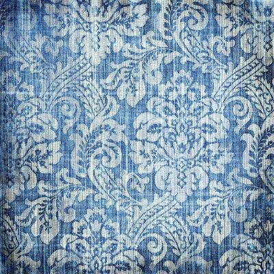 Vintage-Denim Textur mit stilvollen Mustern