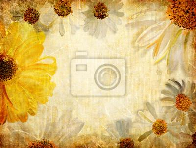 Vintage Hintergrund mit gemalten floralen Grenze
