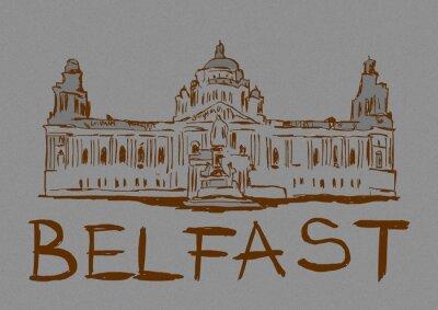 Vintage image of Belfast city