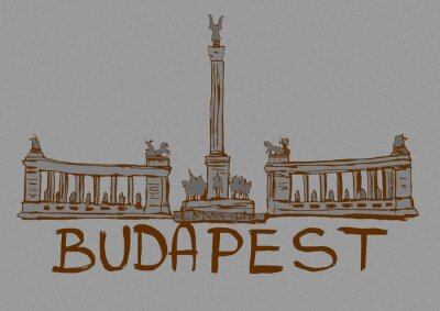 Vintage image of Budapest
