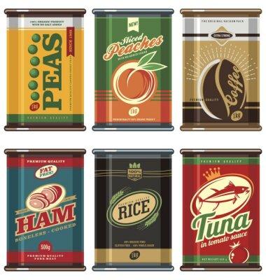 Poster Vintage Lebensmittel Dosen