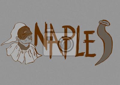Vintage Naples icon text