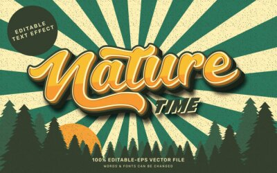 Poster Vintage nature text effect
