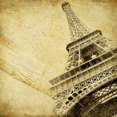 Vintage-Papier mit Eiffelturm