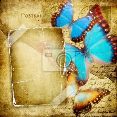 vintage photo album mit Schmetterlingen