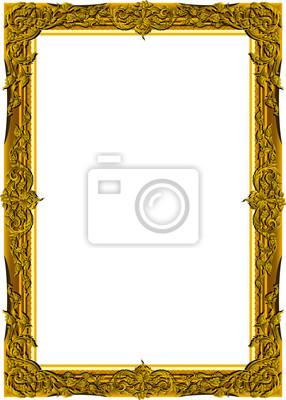 Gold Grenze Design Rahmen Foto Vorlage Zertifikat