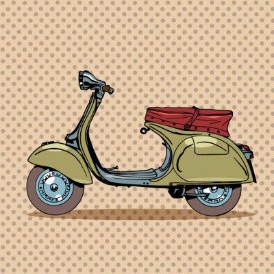 Poster Vintage scooter retro transport